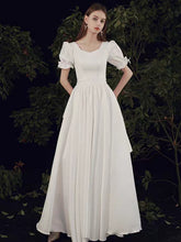 Load image into Gallery viewer, The Penelope Wedding Bridal Short Sleeve Dress
