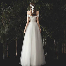 Load image into Gallery viewer, The Norgan Wedding Bridal Off Shoulder Gown - WeddingConfetti