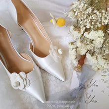 Load image into Gallery viewer, Wedding Satin Heels