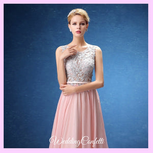 The Bethzy Pink Princess Lace Gown