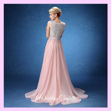 Load image into Gallery viewer, The Bethzy Pink Princess Lace Gown
