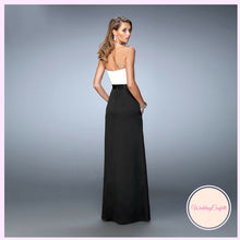 Load image into Gallery viewer, The Brigette Black and White Colour Block Tube Dress