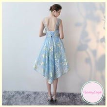 Load image into Gallery viewer, The Caela Sleeveless Sky Blue Dress