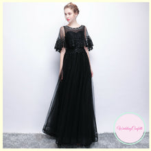 Load image into Gallery viewer, The Cecily Wedding Bridal Lace Black Long Sleeves Gown - WeddingConfetti