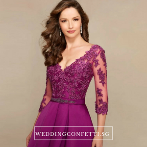 The Dandelion Long Lace Sleeves Dress / Gown - WeddingConfetti