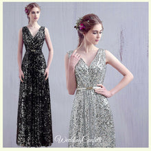 Load image into Gallery viewer, The Dorothea Sleeveless Sequins Gown - WeddingConfetti