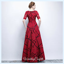 Load image into Gallery viewer, The Eliza Red Long Sleeves Dress