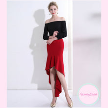 Load image into Gallery viewer, The Elysia Off Shoulder Long Sleeves Dress