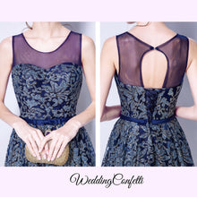 Load image into Gallery viewer, The Francesca Navy Blue Gown - WeddingConfetti