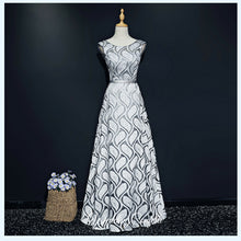 Load image into Gallery viewer, The Gillian Wedding Bridal Silver / Gold Dress - WeddingConfetti