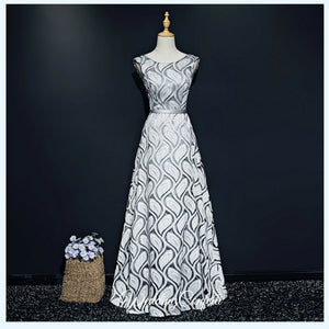 The Gillian Wedding Bridal Silver / Gold Dress - WeddingConfetti