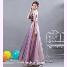 Load image into Gallery viewer, The Gretchen Purple Sleeveless Gown