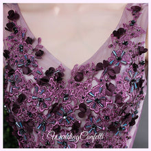 Load image into Gallery viewer, The Gretchen Purple Sleeveless Gown - WeddingConfetti