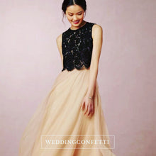 Load image into Gallery viewer, The Eden Wedding Bridal Satin Crop Top Maxi & Skirt (Customisable) - WeddingConfetti