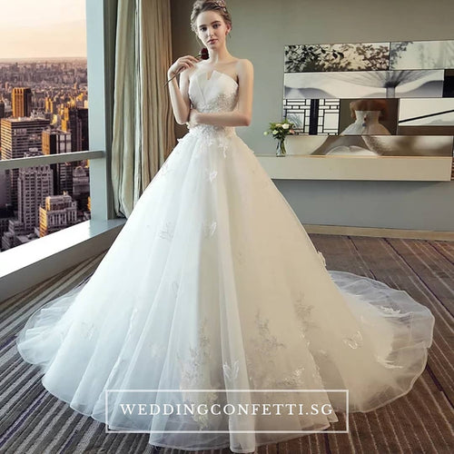The Henreitta Wedding Bridal Tube White Gown - WeddingConfetti