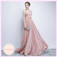 Load image into Gallery viewer, The Kerlaine Pink Sleeveless Gown - WeddingConfetti