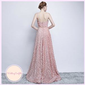 The Kerlaine Pink Sleeveless Gown