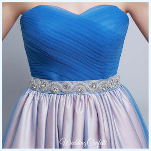 The Kirsten Blue Ombre Tube Gown
