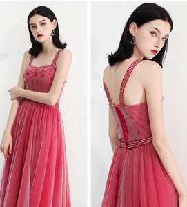 The Fayer Pink Sleeveless Gown - WeddingConfetti