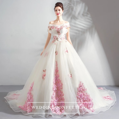 The Premaly Pink Floral Ball Gown - WeddingConfetti
