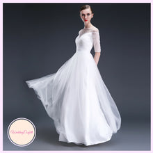 Load image into Gallery viewer, The Rosalynn White Off Shoulder Gown