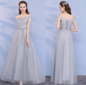 The Lorraine Grey / Champagne Bridesmaid Dress (Available in 2 colours) - WeddingConfetti