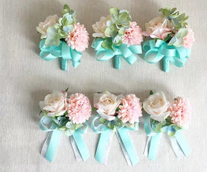 Wedding Flower Wrist Corsages - WeddingConfetti