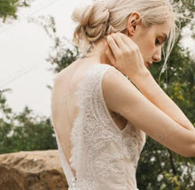 Load image into Gallery viewer, The Reyale Bohemian Wedding Sleeveless Gown - WeddingConfetti