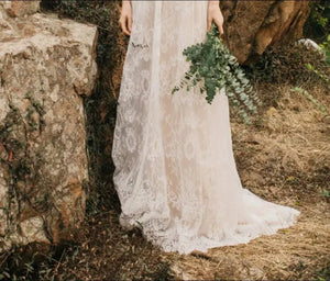 The Reyale Bohemian Wedding Sleeveless Gown - WeddingConfetti
