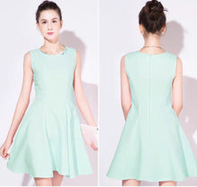 Load image into Gallery viewer, The Hailey White / Pink / Mint Green Sleeveless Dress
