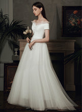 Load image into Gallery viewer, The Bridget Wedding Bridal Off Shoulder Gown (Available in Midi and Maxi)