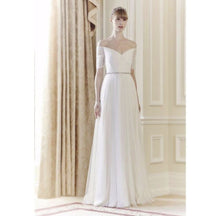 Load image into Gallery viewer, The Armelie Off Shoulder White Gown