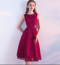 Load image into Gallery viewer, The Eugenia Red / Grey Sleeveless Cocktail Dress - WeddingConfetti