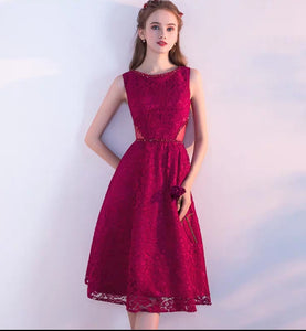 The Eugenia Red / Grey Sleeveless Cocktail Dress - WeddingConfetti