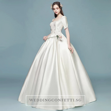 Load image into Gallery viewer, The Sophina Wedding Bridal Satin Gown