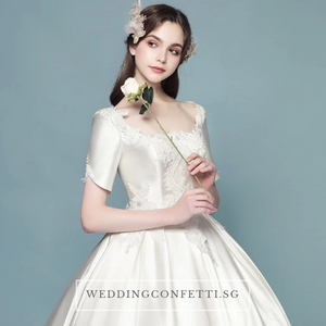 The Sophina Wedding Bridal Satin Gown