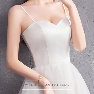The Steffia Wedding Bridal Sleeveless Satin Dress - WeddingConfetti