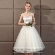Load image into Gallery viewer, The Steffia Wedding Bridal Sleeveless Satin Dress
