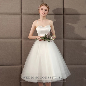 The Steffia Wedding Bridal Sleeveless Satin Dress