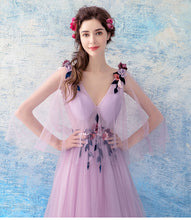 Load image into Gallery viewer, The Leronia Bridal Wedding Lilac Light Purple Tulle Sleeveless Dress - WeddingConfetti
