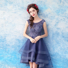 Load image into Gallery viewer, The Cecil Blue Hi Low Sleeveless Dress - WeddingConfetti