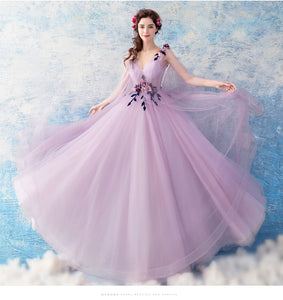 The Leronia Bridal Wedding Lilac Light Purple Tulle Sleeveless Dress - WeddingConfetti