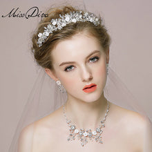 Load image into Gallery viewer, Bridal Hair Crown And Necklace - WeddingConfetti