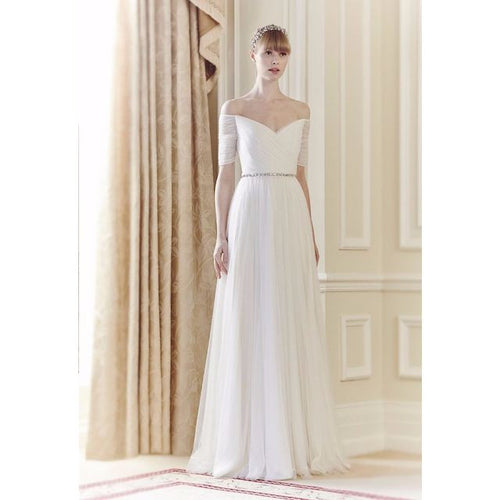 The Amerlie White Off Shoulder Gown
