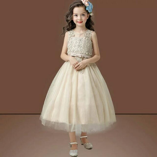 Champagne Flower Girl Dress - WeddingConfetti