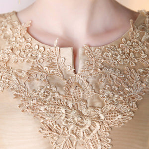 The Arissa Gold Embroidered Dress - WeddingConfetti