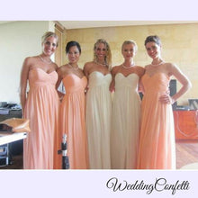 Load image into Gallery viewer, The Charis Bridesmaid Chiffon Tube Dress (Customisable) - WeddingConfetti