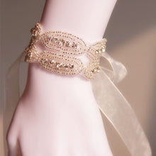 Load image into Gallery viewer, Wedding Bridal Silver Gold bracelet