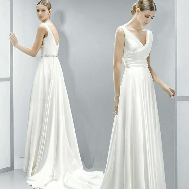 The Roxanne Wedding Bridal Satin Gown