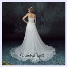 Load image into Gallery viewer, The Oriana Wedding Bridal White Lace Tube Dress